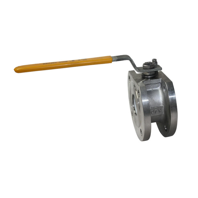 PN16 Ball Valve Wafer Type Stainless Steel Flange