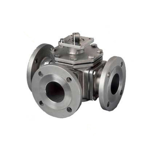 Flange Ball Valve 3 Way CF8 PN16